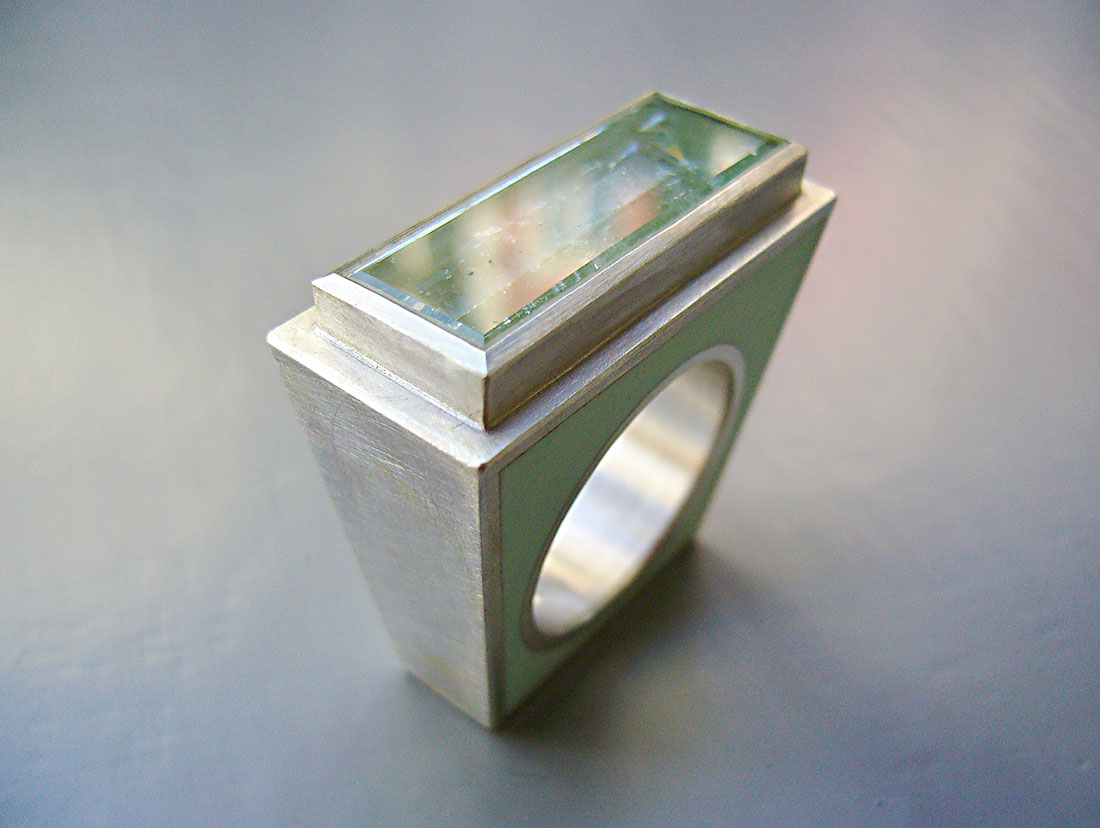 Silber 925 grüner Beryll Colorit