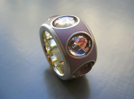 Silber 925 Rosaquarz Colorit