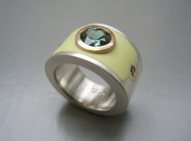 Silber 925 Rotgold 750 Turmalin Colorit