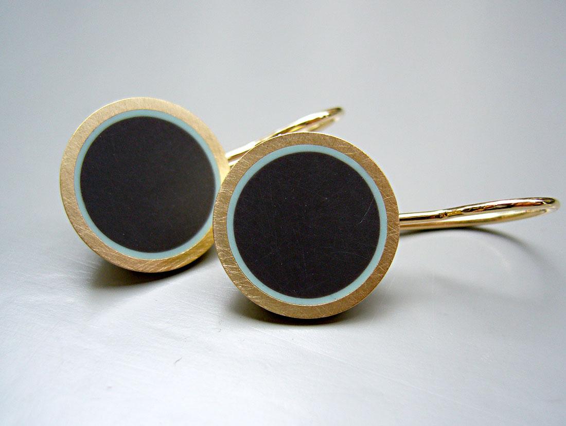 Schüsseli-Ohrhänger Gelbgold 750 Colorit