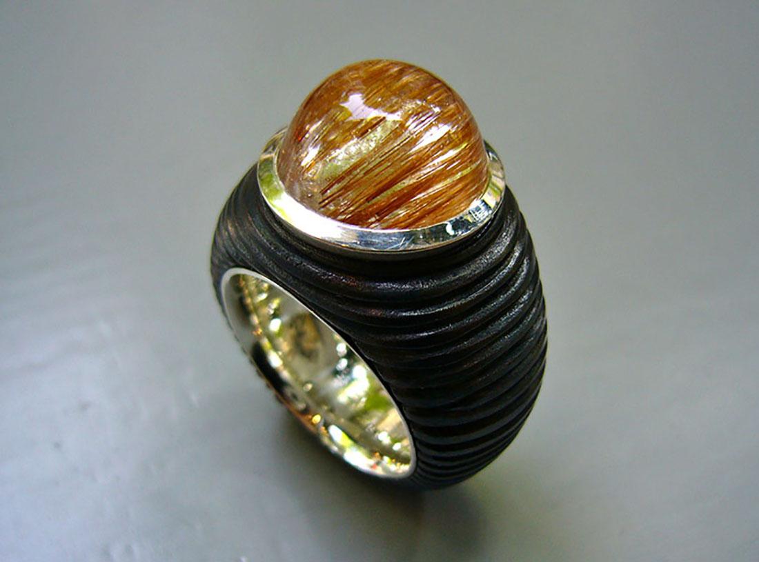 Eisen Silber 925 Rutilquarz