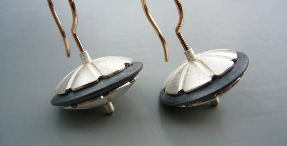 Silber925, Rotgold750, Silber geschwärt