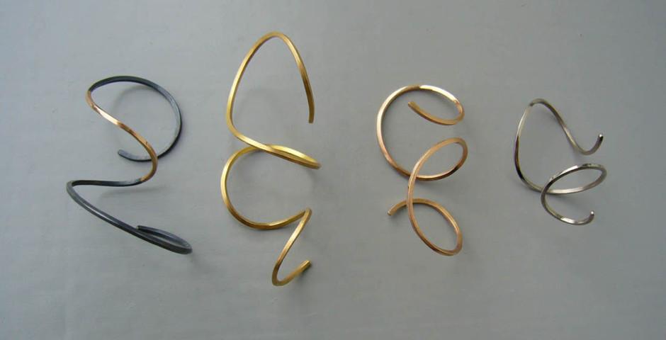 Ohrlocken, Silber925, Gelb- Rot- Weissgold750